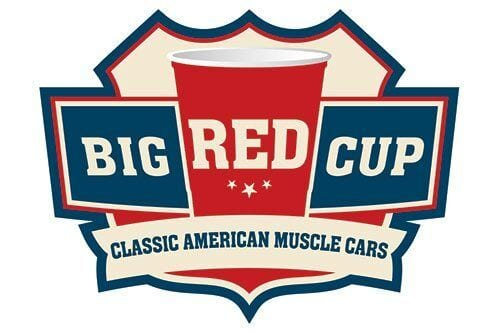 Big red cup classic american muscle cars wehrenberg for American classic logo